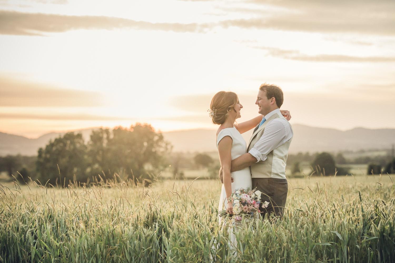 Bride Groom country wedding