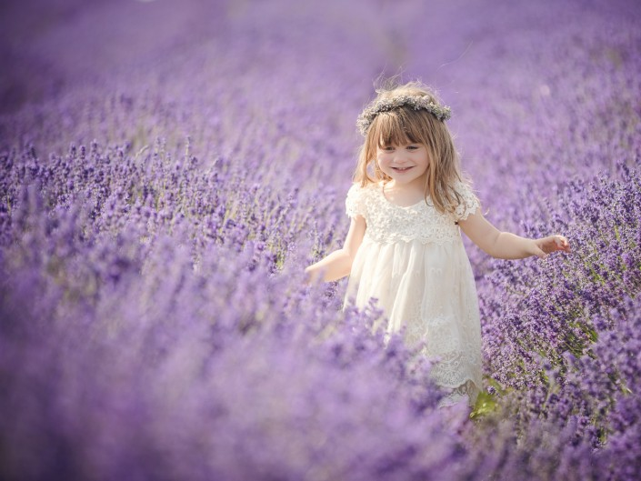 Cotswold lavender child photography