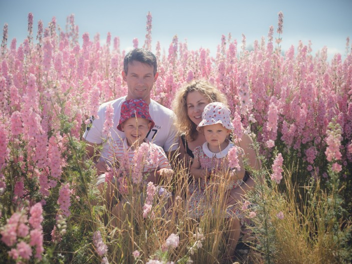 Confetti flower fields family portrait photography