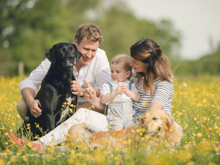 Gloucester family portrait photography buttercups Gloucestershire