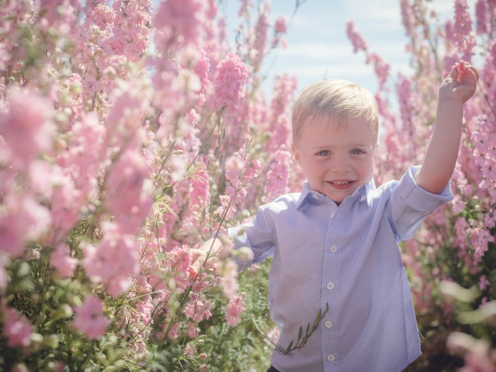 flower fields Wick child portrait
