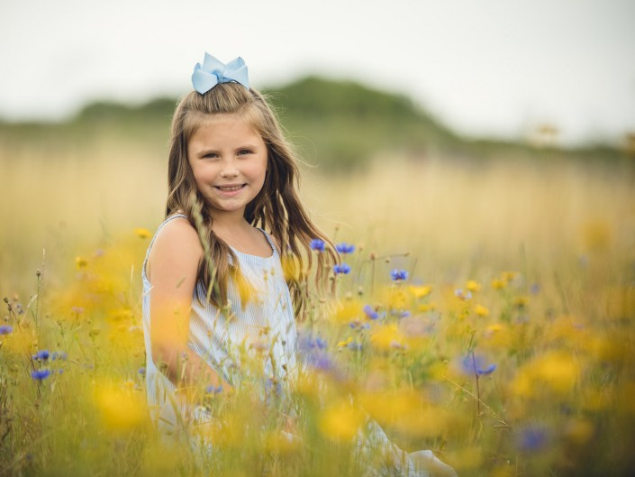child portrait wildflowers cotswold lavender