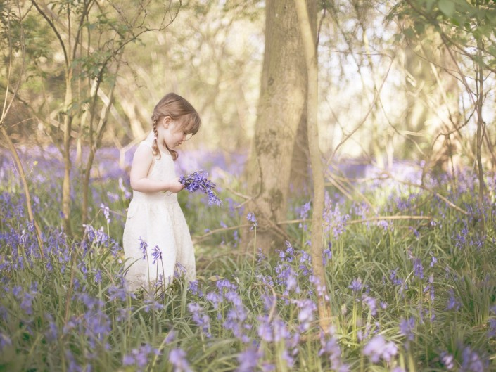 Bluebell Woodland child photography Gloucestershire
