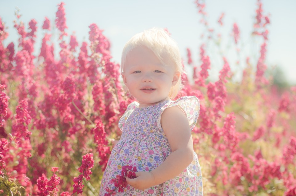 The Real Flower Petal Company, a stunning location for child and family photography in Worcestershire