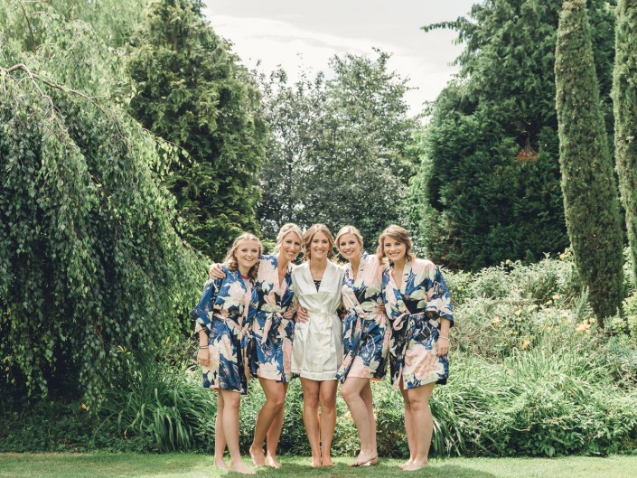 Bride Bridesmaids Gloucestershire country wedding