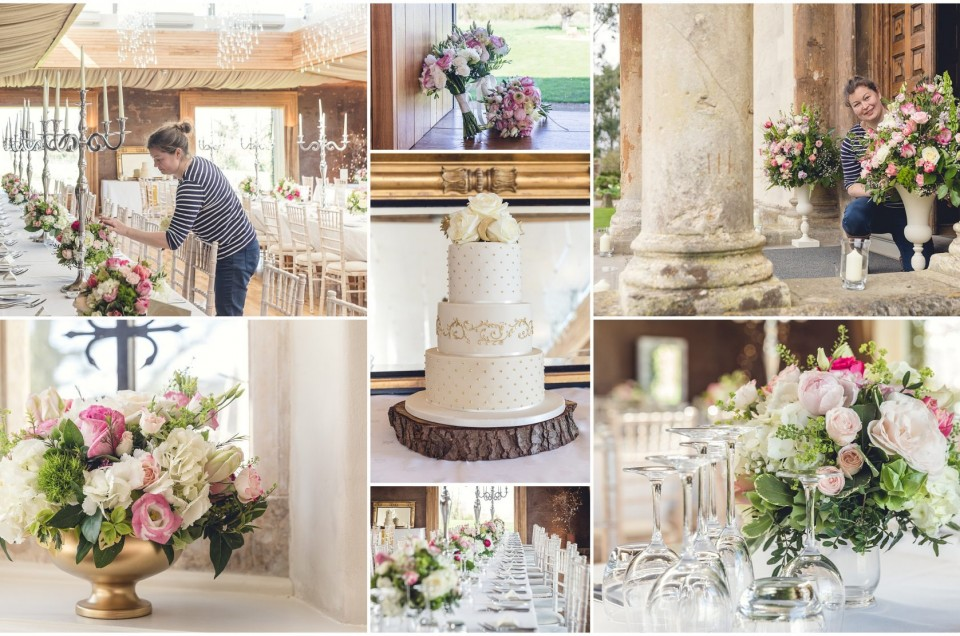Stunning wedding flowers by the talented Jenny Fleur at Elmore Court, Gloucestershire.