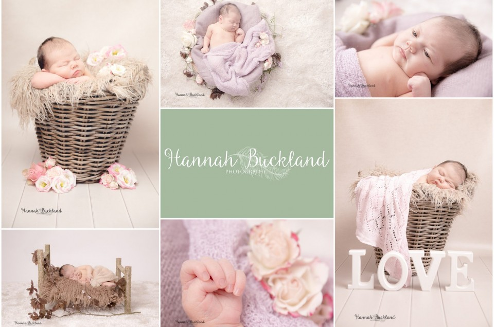Flowers and wedding props for beautiful Beatrix, newborn photography session, Gloucestershire