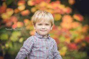 Child portrait Gloucestershire autumn leaves
