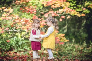 Child photography autumn leaves Gloucestershire