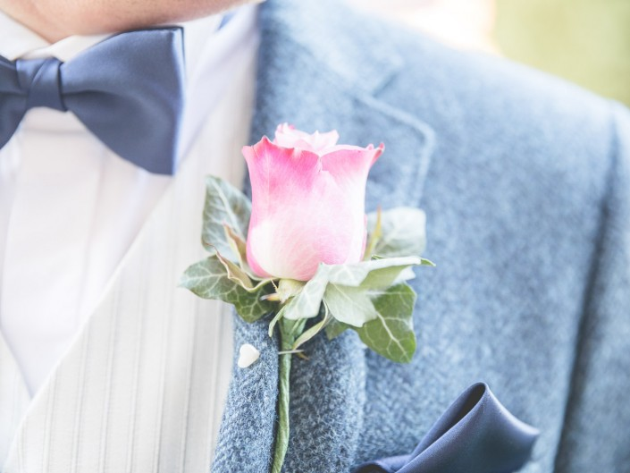 Buttonhole Rose Gloucester wedding photography