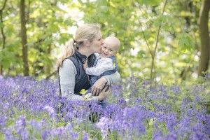 Mother baby Bluebells Gloucestershire