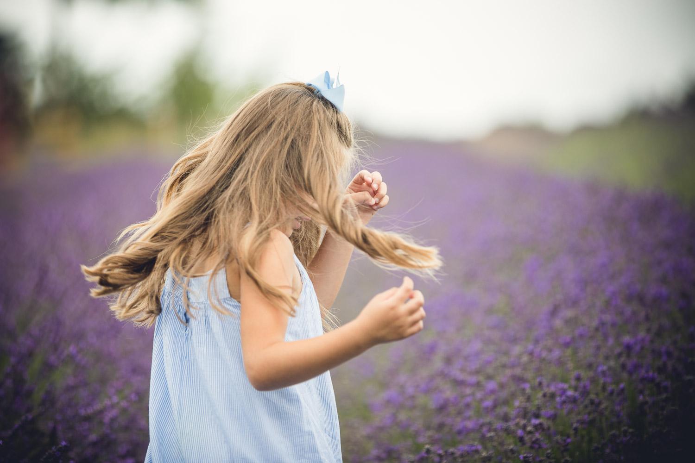 Child Portrait lavender field