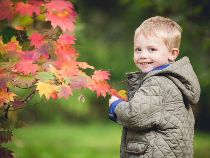 Autumn child portrait Gloucestershire