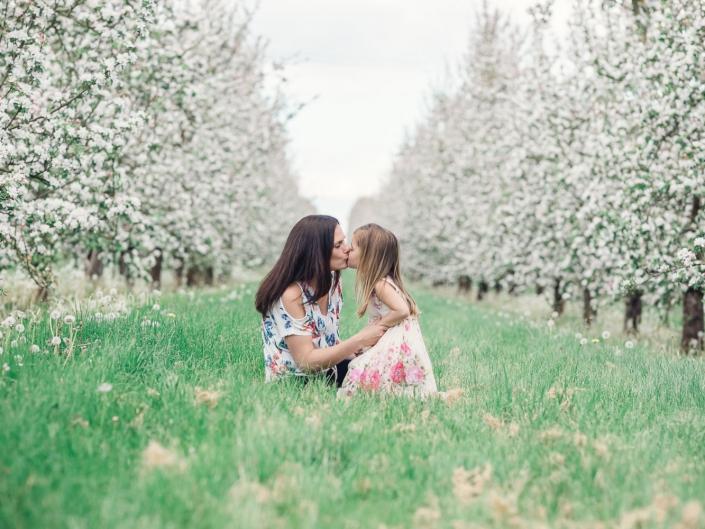 Blossom family photoshoot Gloucestershire