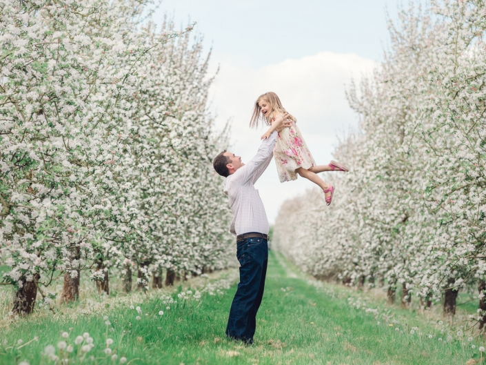 Apple Blossom family photoshoot Gloucestershire
