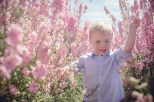 flower fields Wick child portrait