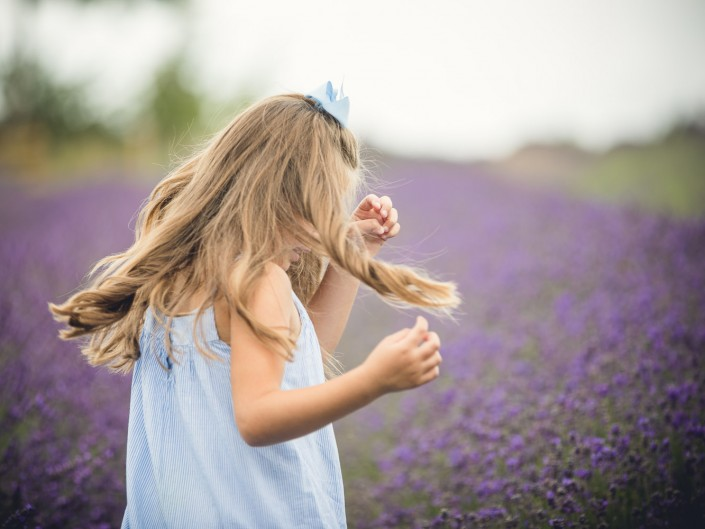 Child cotswold lavender portrait
