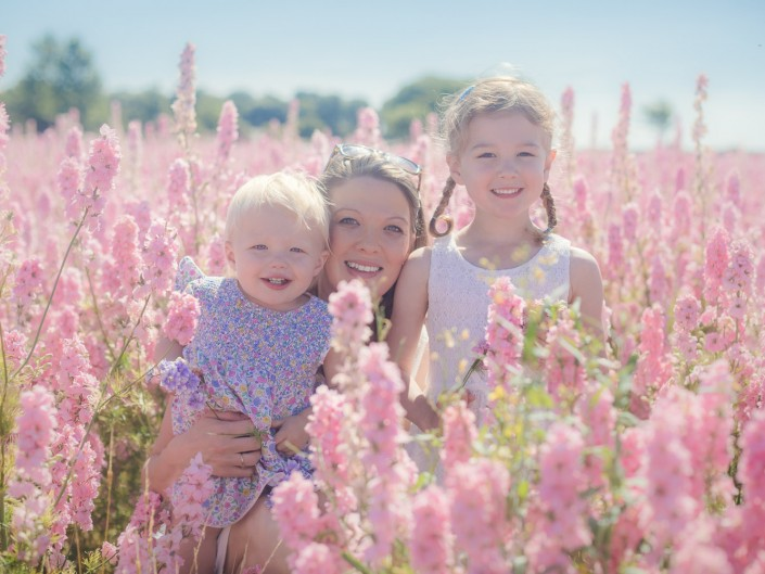 Confetti flower fields family photography Worcestershire