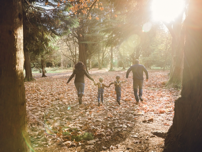 Autumn family photoshoot Forest Dean