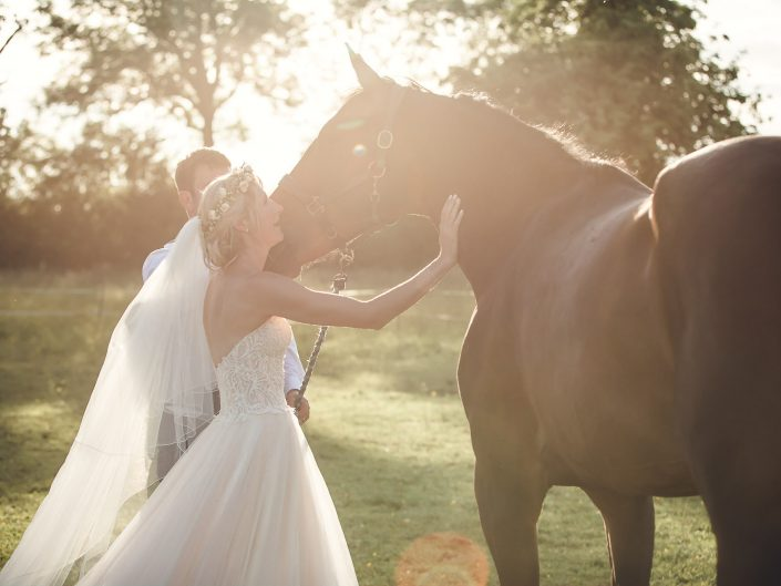 Horse country wedding day