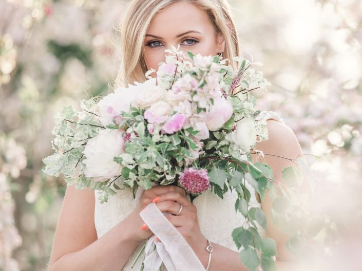 Blossom bride country wedding