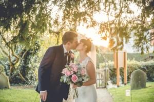 Gloucester wedding photography bride groom kiss