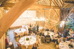 Over Farm barn winter wedding Gloucester