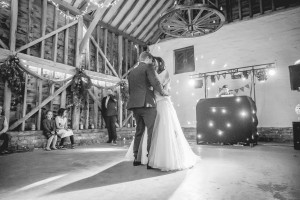 Over farm barn Gloucester wedding photography