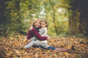 Mother daughter autumn photoshoot Gloucestershire