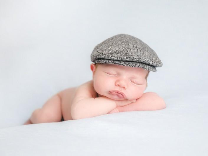 Gloucester newborn baby flat cap