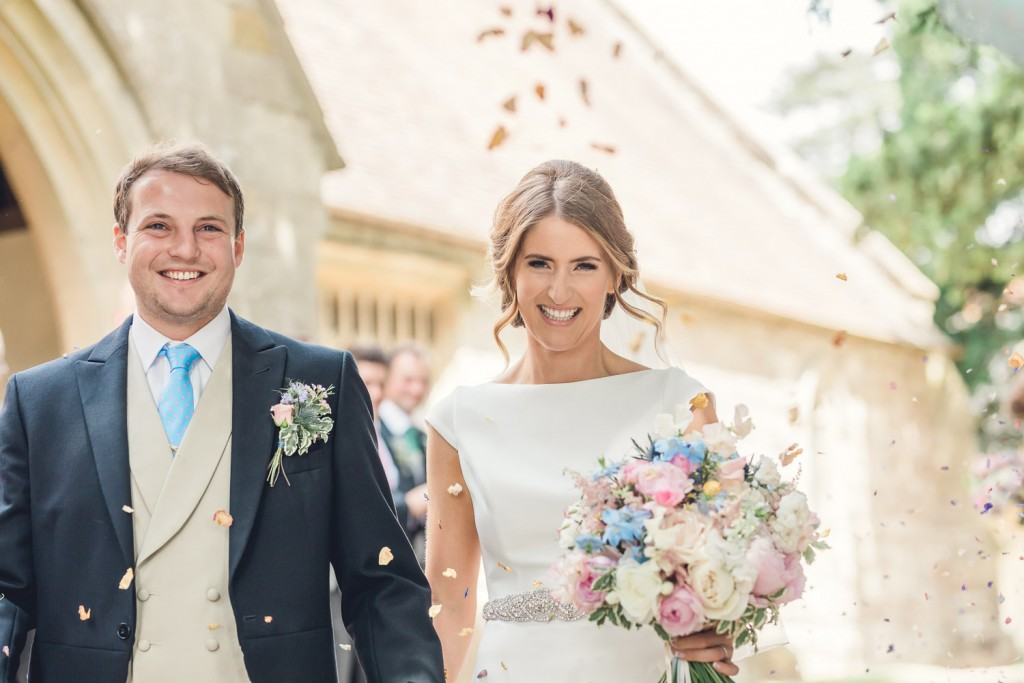 Gloucester bride groom confetti