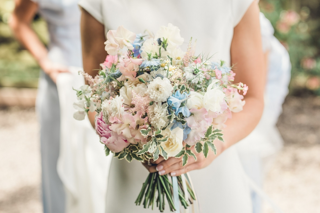 wedding bouquet English country wedding