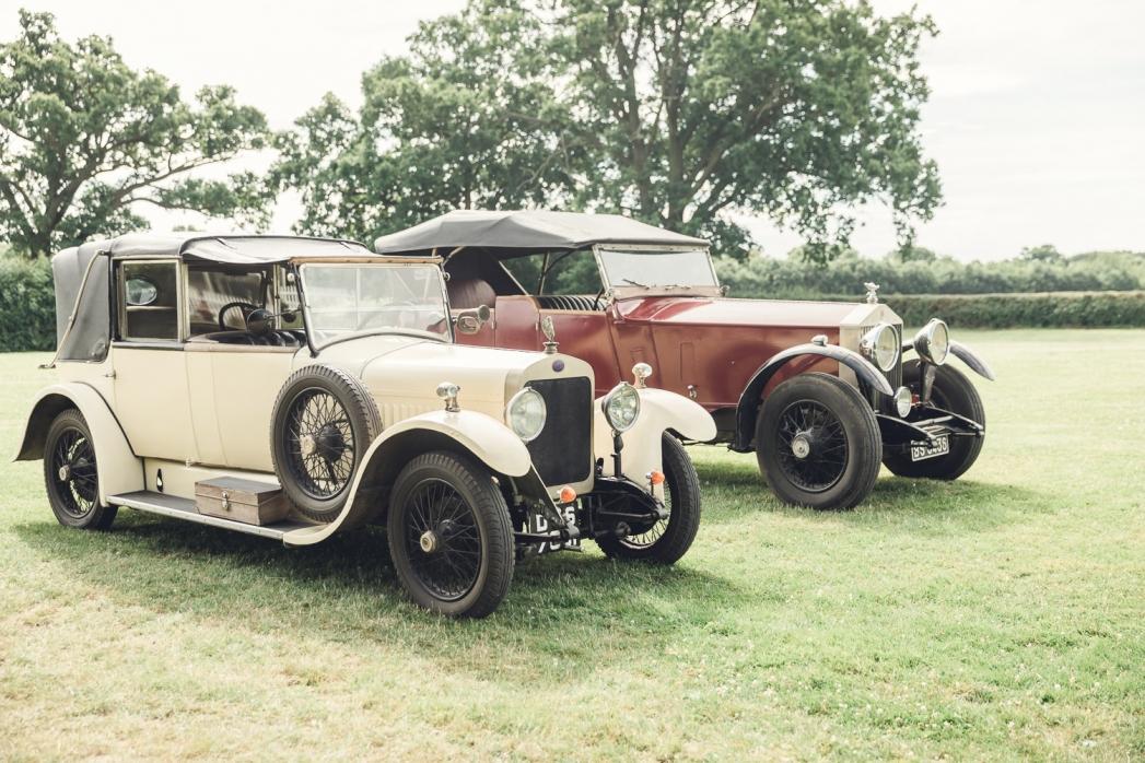 Vintage wedding car Gloucestershire