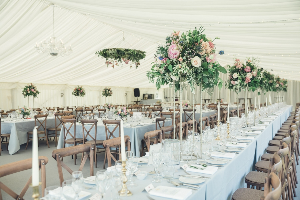 Country marquee wedding Gloucestershire