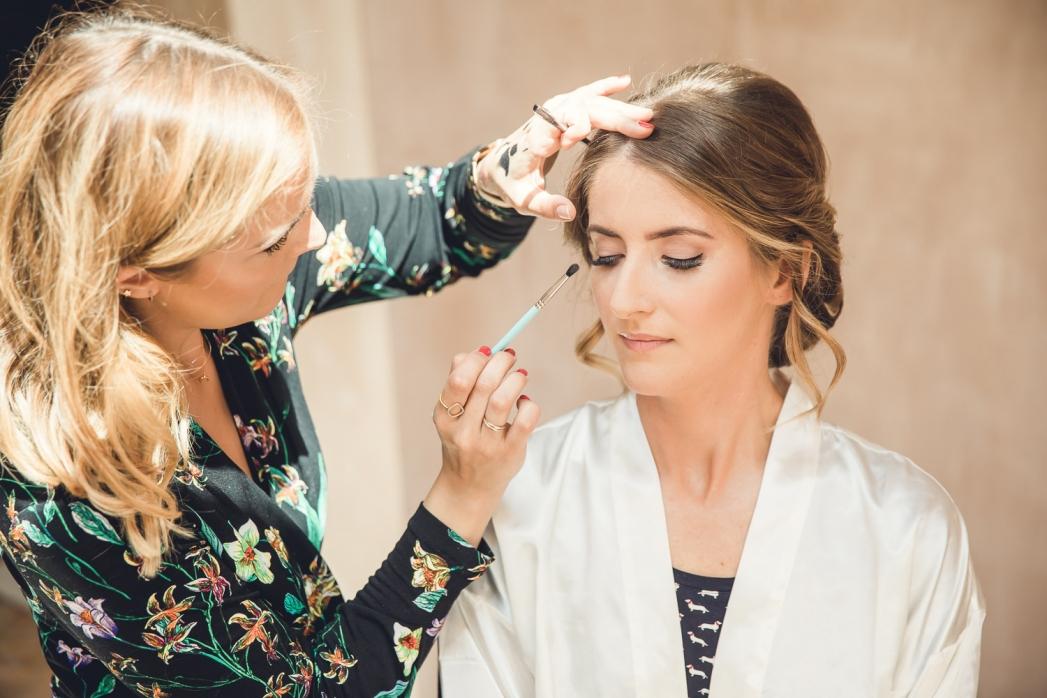 Sasha Brown wedding makeup