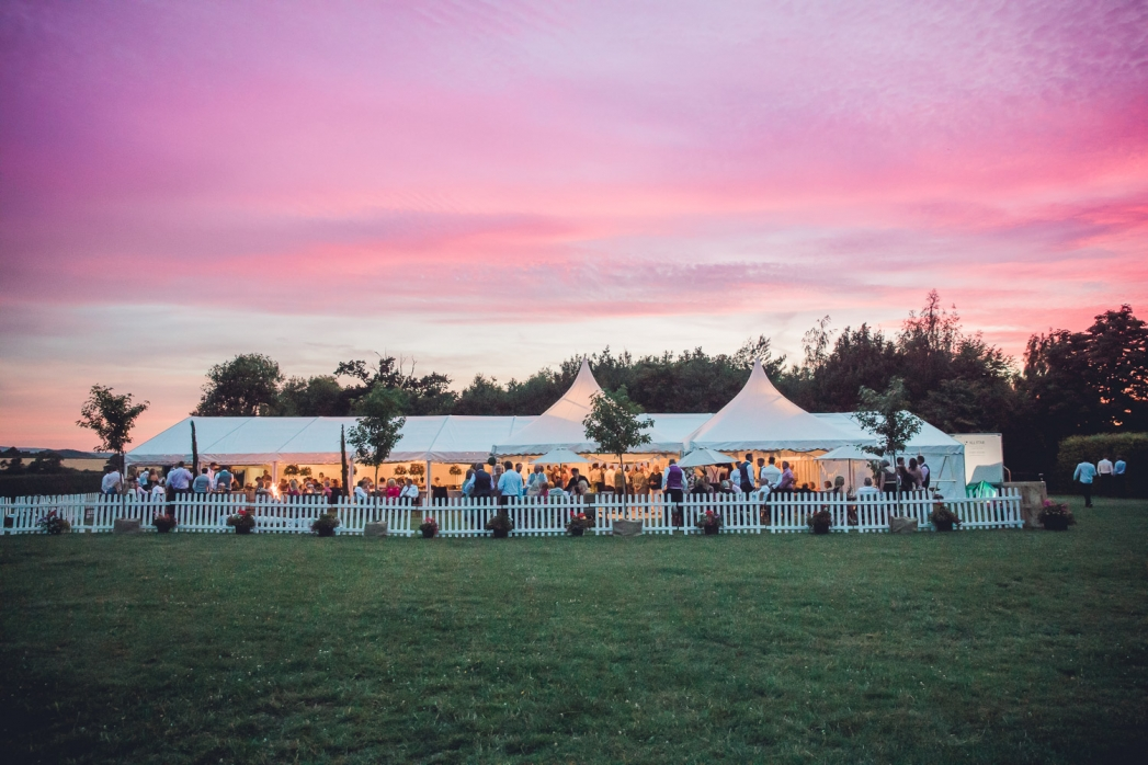 Sunset Marquee wedding Gloucestershire