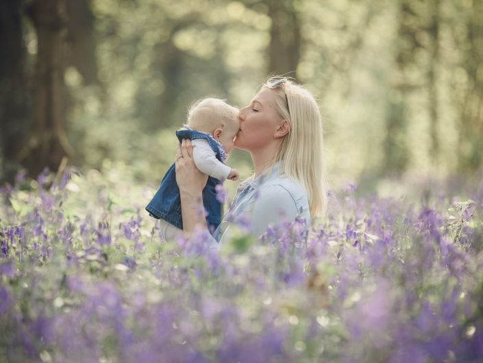 Bluebell Family photoshoot Gloucestershire