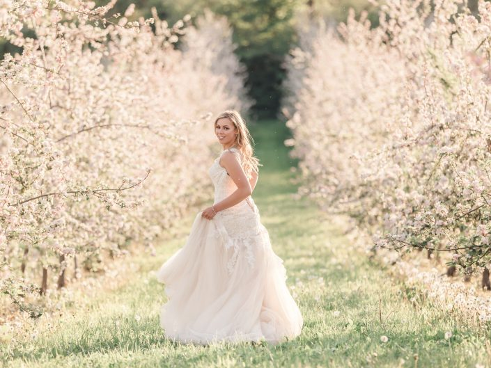 Romantic blossom country wedding
